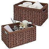 GRANNY SAYS Wicker Storage Baskets, Hand-Woven...