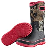 HISEA Rain Boots for Women Mid Calf Muck Rubber Boots Waterproof Neoprene Insulated Barn Boots for Mud Working Gardening Camo