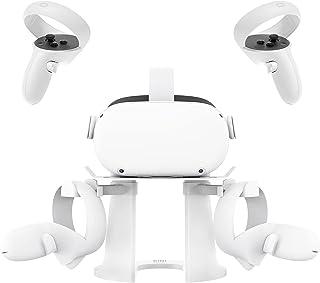 Kiwi Design VR Stand, Headset Display Holder and Controller Holder Mount Station for Oculus Quest/Quest 2/Rift/Rift S/GO/H...