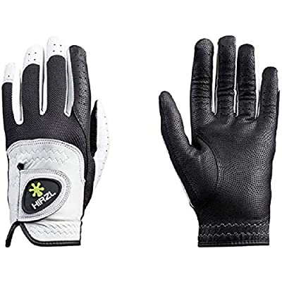 HIRZL Trust Control 2.0 Golf Gloves, All Weather Mens Golf Glove, White/Black, Kangaroo Leather Palm, Cabretta Leather Backhand, Trusted by Pro's, Sweat Free, Ultimate Grip, X-Large, Worn on Left Hand