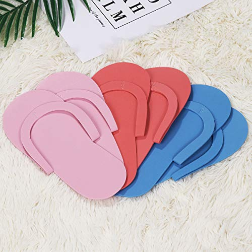 ROSENICE Disposable Pedicure Slipppers for Salon Spa Pedicure 36 Pairs (Random Color)