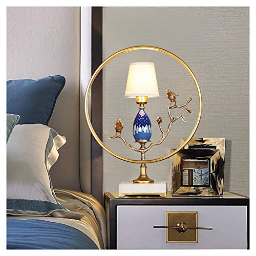 Lámpara de escritorio moderna y minimalista, de cobre con personalidad creativa