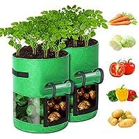2-Pack GORDITA 10 Gallon Potato Planter Bags with Access Flap & Handles