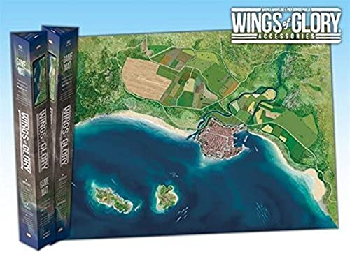 Wings of Glory  Coast Game Mat by Ares Games (English Manual)