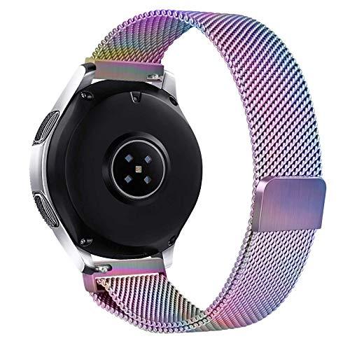 Cinturino 22mm Compatibile con Samsung Galaxy Watch 46mm Cinturino Gear S3 Frontier Galaxy Watch 3 45mm, Morbido Cinturino in Metallo per Classic Samsung Gear S3 (Colorato)
