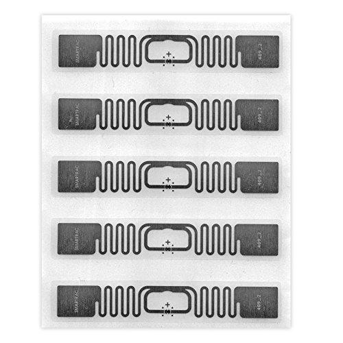 5 UHF RFID Tag   Smartrac Belt Monza R6   73x13mm transparent