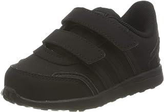 Adidas Vs Switch Nubuck Velcro Closure Three Side Stripe Sneakers for Kids - Core Black, 23