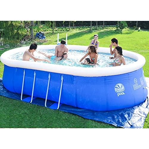 Worth having - Grote opblaasboten voor zwembad, buiten zomer water party zwembad, familie zwembad, zwemcentrum voor kinderen, volwassenen, babys, tuin, achtertuin (Size : 265X190X80CM)