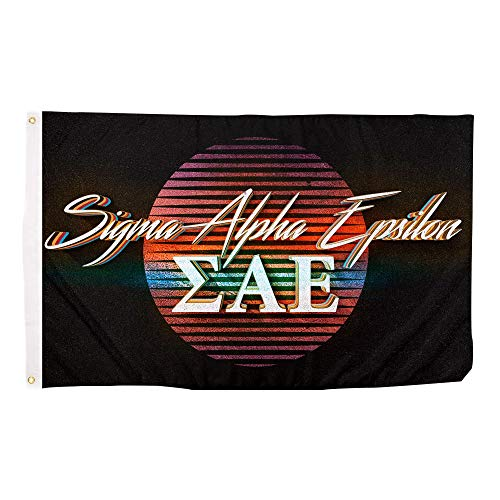 Sigma Alpha Epsilon 80's Letter Fraternity Flag Banner 3 feet x 5 feet Sign Decor SAE (Flag - 80's)