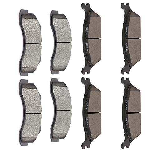 OCPTY Ceramic Brakes Pads, Quick Stop Front Rear Brake Pad fit for 2012-2019 for Ford F-150