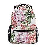 HGQHXY.U Flores de Peon¨ªa Rosas Mochila de Fantas¨ªa Mochila Escolar Mochila de Viaje