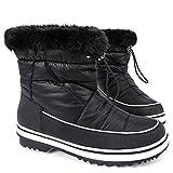 ALEADER Women's Terra Waterproof Winter Ankle Snow Boots Black 6 D(M) US