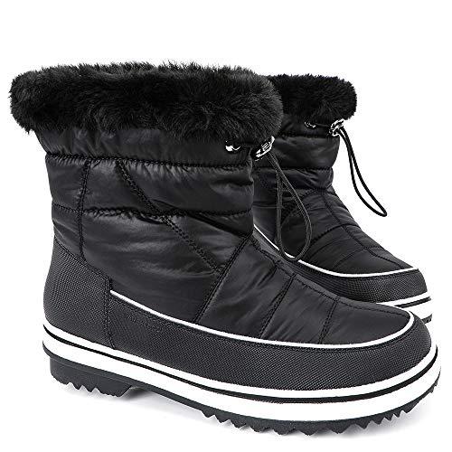 ALEADER Women's Terra Waterproof Winter Ankle Snow Boots Black 8 D(M) US