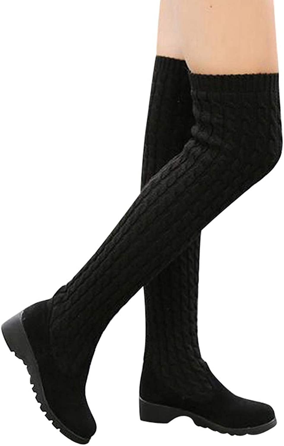 Wedges Over The Knee Boots Platform Round Toe School Style shoes