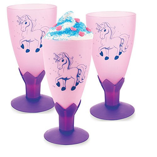 BirthdayExpress Enchanted Unicorn Party Supplies - Goblets (8)