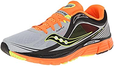 Saucony Men's Kinvara 5 Vizi Glo Running Shoe,Silver/Vizi Orange/Citron,11 M US