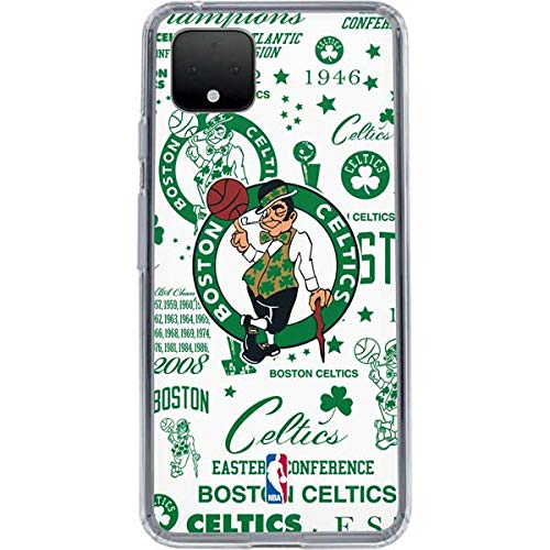 Skinit Clear Phone Case Compatible with Google Pixel 4 XL - Officially Licensed Boston Celtics Historic Blast Design