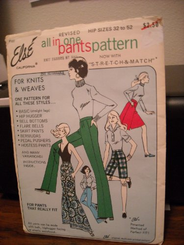 Else California # 100 all in one pants pattern