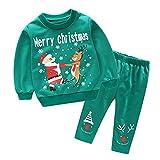 K-youth Ropa Bebe Niño Navidad Baratas Ropa Bebe Niña Invierno Navidad Recién Nacido Tops O Conjunto Bebe Niño Pantalon y Top Fiesta Conjunto De Ropa, Reyes Regalo(Conjunto Verde, 3-4 años)