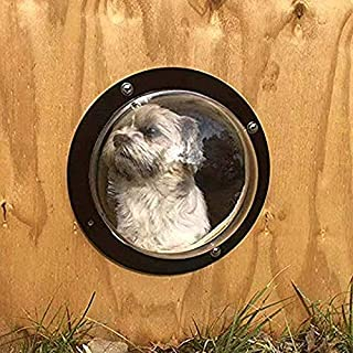 gomaomi Pet Window Fence for Cats and Dogs Peek Clear View Relieve Anxiety Reduced Barking
