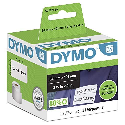 DYMO LW 99014 Etichette per spedizione/ badge nominativi, bianco, 54 mm x 101 mm