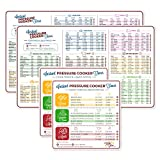 Electric Pressure Cooker Cook Times Quick Reference Guide Compatible with Instant Pot | Instapot Accessories Magnetic Cheat Sheet Magnet Set | Insta Pot Sticker and Decal | Made in USA 2 Sets, Magnets