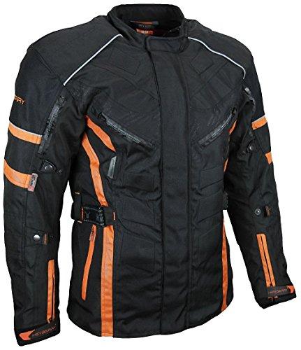 HEYBERRY Herren Touren Motorradjacke Textil schwarz orange Gr. M