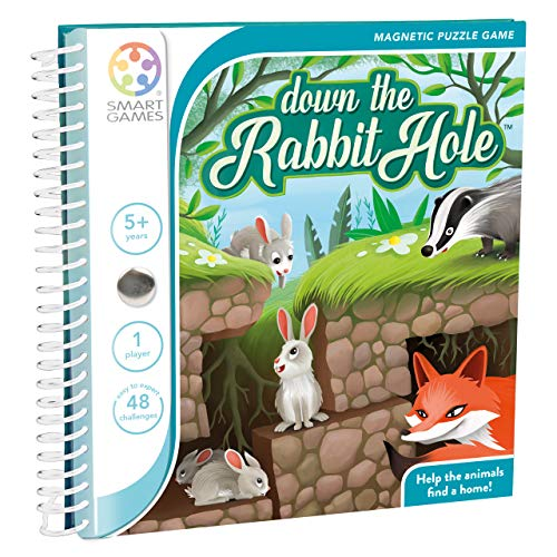 SmartGames Down The Rabbit Hole Magnetic Puzzle Travel Game One Player Ages 5