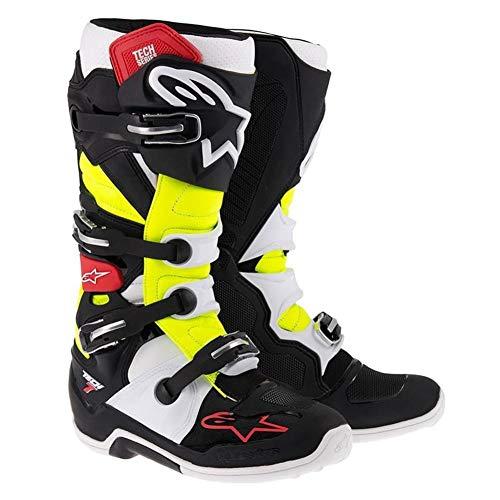 Alpinestars Unisex-Erwachsene Tech 7 Stiefel (schwarz/rot/gelb, Größe 44)