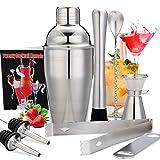 Skymore Edelstahl Cocktailshaker Set, Cocktail Zubehör, Cocktailshaker Für Barmann Männer und Frauen, Perfect Home Bartending Kit für Zuhause oder die Bar