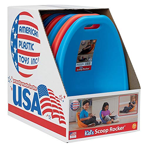 American Plastic Toys APT-13150-6PK Scoop Rocker Chair, Red and Blue (3 Pack)