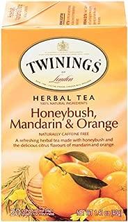 Twinings of London Honeybush, Mandarin and Orange Tea Bags, 20 Count (Pack of 6)