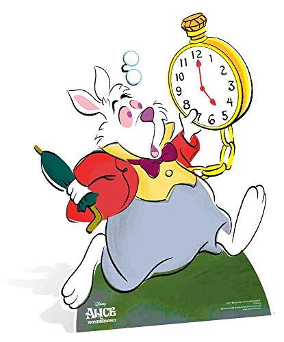 Star Cutouts Ltd SC4016 - Conejo blanco Alicia en el País de las Maravillas y para actividades y eventos, altura 77 cm, ancho 61 cm, multicolor