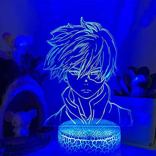 YNWJ 3D Luce Notturna Anime Manga Figurine 3D Lampada da Tavolo Regalo Bambini Camera Decor, My Hero...