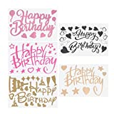 Amosfun Stickers Birthday Happy Sticker Balloon for Hippy Letter Ballon Letters (Random Color) -Cupcake kids-5pcs Stickers Durable Happy Birthday Party Supplies Decals Paster Balloon