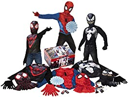 Amazon Exclusive 19-Piece Spider-Man Dress-Up Trunk, Small