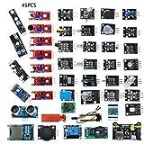 45 unids/set arduino compatible con sensor eléctrico para módulos de sensor R3 Kit de inicio herramientas electrónicas Diy para principiantes
