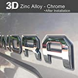 Aukee Tailgate Letters for Toyota Tundra 2014 2015 2016 2017 2018 2019 Emblem Inserts 3D Raised Metal (Chrome)