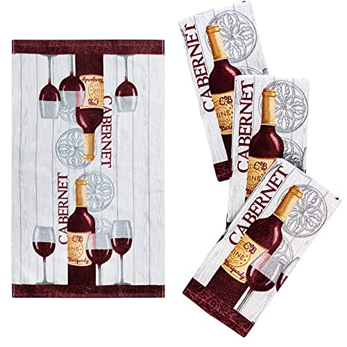 Wine Themed Dish Towels
