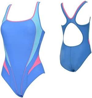 Lima Ladies Swimsuit, Blue/Bright Pink, 40