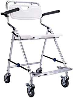 RDMZ Function Wheelchair Shower Chair Padded Seat Commode Rolling Shower Chair with Backrest and Armrests