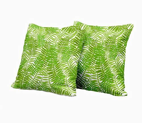 SAIAOS 2er Set Dekorative Kissenbezug,Naturpflanzenbaumgrün lässt Laub im Waldmuster,Super Weich Kissenbezüge Decor Kissenhülle für Sofa Couch Schlafzimmer Wohnzimmer 55x55cm