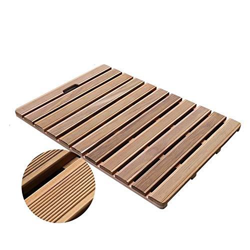 WWWANG Bambus-Bodenmatte für Dusche, Lattenrost, rutschfest, wasserdicht, ohne Formaldehyd, 9 Größen (Farbe: Natur, Größe: 50 x 30 cm)