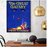 yhyxll Great Gatsby Poster Scott Fitzgerald Buchcover Druck