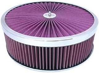 Chrome 14 x 4 Super Flow Filter Air Cleaner Set Washable Element Dominator Base