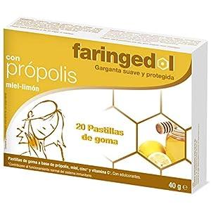 Faringedol - Pastillas de goma para garganta, sabor limón y miel, 20 unidades, caja 50 g