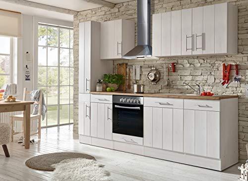 respekta Cucina Angolo Cucina Blocco Cucina Landhausküche Cucina Incasso Cucina Completa 250 cm Bianco