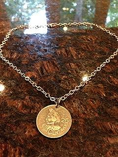 Guatemala 25 Centavos Coin Necklace