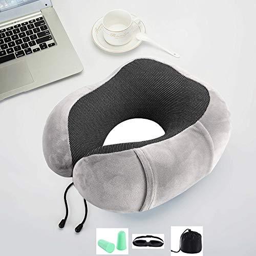 JHMAOYI Almohada de soporte para el cuello Memoria Almohada de algodón en forma de U Almohada de cuello de viaje en forma de U Almohada de cuello de viaje Almohada de algodón de viaje.