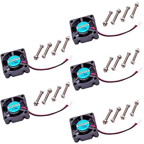 AZDelivery 5 x Ventilador axial de refrigeración activo el miniventilador para Raspberry Pi con eBook incluido